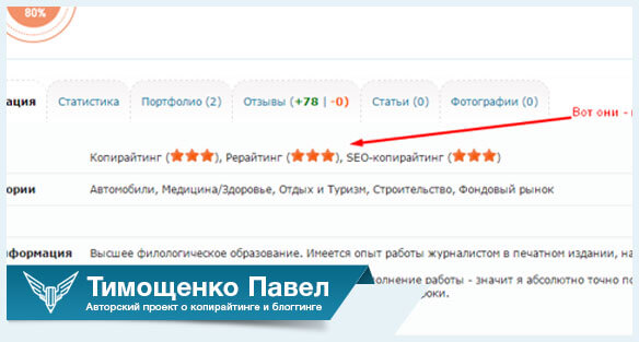 Павел Тимощенко о звездах рейтинга