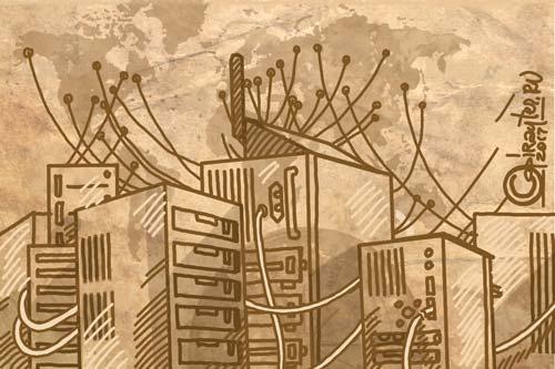 Авторский рисунок: Что такое домен и хостинг